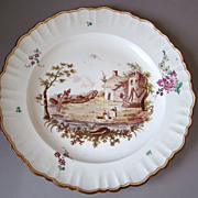 Antique French Marseille Faience Plate With Veuve Perrin Style Mark