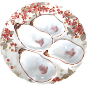 Antique Four Well Oyster Plate ~ Haviland ~ Attractive!