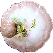 Antique One Well Oyster Plate ~ Seafood!
