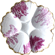 Antique Oyster Plate ~ Intense Fuchsia