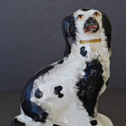 SALE Antique Staffordshire Spaniel Dog