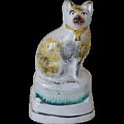 SALE Antique Staffordshire Cat ~ C1870