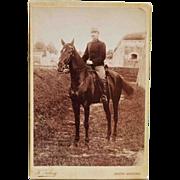 SALE Antique Cabinet Photograph ~ Austrian Soldier & Beautiful Horse