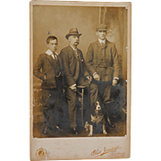 SALE Antique Cabinet Photograph ~ British Family With Dog C1902
