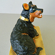 SALE Antique French Porcelain Dog