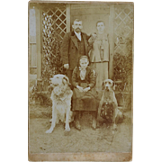 SALE Cabinet Photograph Austrian Family With Dogs