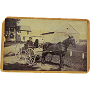 Antique Cabinet Photograph ~ Old Guy & His Dog Kennebunkport Maine
