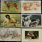 SOLD 12 Antique Dog Postcards