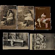 SOLD 5 Antique Dog Postcards