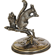 Victorian Silver Plate Squirrel Taper Holder