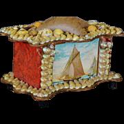 Victorian Shell Pin Cushion Box ~ Sailor's Valentine