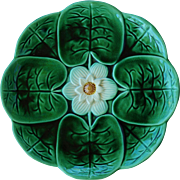 Joseph Holdcroft Majolica Water Lilly Plate C1870