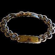 """SALE 19C Antique French Dog Collar ~ """"Chompré Haguenau"""""""