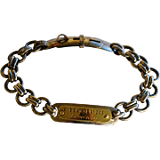 "19C Antique French Dog Collar ~ ""Chompré Haguenau"""