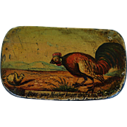 "SALE Antique 19C Papier Mache Snuff Box ~ ""Does Your Mother Know You Are Out"""