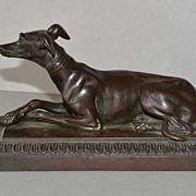 SALE Antique Recumbent Greyhound Dog