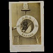 SALE Dog Mascot Postcard British Battleship H.M.S. Barham