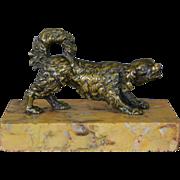 SALE Antique 19C Bronze Dog