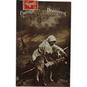 SOLD French WW1 Red Cross Dog Postcard