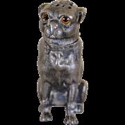 SALE Antique Pug Dog Pounce Pot