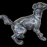 SALE Antique Pounce Pot ~ Prancing Dog