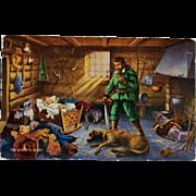 SALE The Story Of Gelert ~ Gelert Llewelyn's Dog Postcard