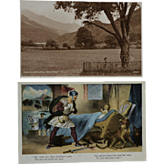 Pair Of Gelert Llewelyn's Dog Postcards