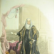 Pyne, Costume Great Britain H/C AQUATINT, Speaker House of Commons and Lord Mayor 1805
