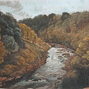 SOLD Frederick Lewis H/C Aquatint Scene - Buckland Rock 1820