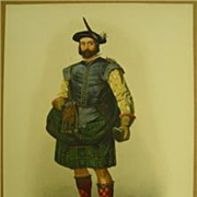 Mcian Clans Scottish Highlands Dhonchadh Mhar SKENE Family LITHOGRAPH 1845-1857