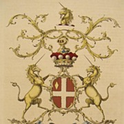 SALE Rare Jacobs 1766 Coat of Arms Villiers Lord Hyde