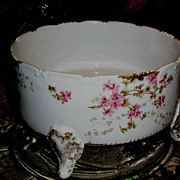 Limoges Ferner  Hand Painted Pink Roses with Delicate Floral Overlays & Sponged Gold  ca. 1899