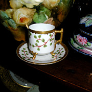 Limoges Demi Tasse Cup ~ Footed & Trimmed with Gold Coin ~ Signed ~ Elite Works ...