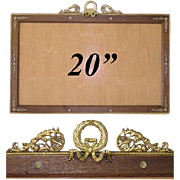 """SALE HUGE Antique French Empire 20"""" Picture Frame, Wood Mat"""