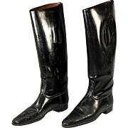 SALE An Old Vintage to Antique Pair of English Riding Boots for Display - Nicely Preserved