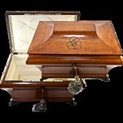 "SALE Huge Antique 20"" 1700s French Marriage or Trousseau Chest, Casket, Cashmere Box"
