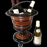 SALE Big Antique Victorian Era Wooden Wine Cooler, Holds 3-4 Bottles