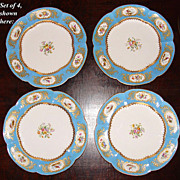 SALE Rare Set of 4 Antique Coalport for A.B. Daniell Hand Painted Cabinet Plates ...
