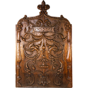 """SOLD Fabulous French Hand Carved 22"""" x 14"""" Wood Panel, Decorative Neo-Classical, Gri"""