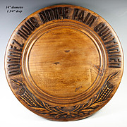 """SALE Vintage French Carved Wood Bread Board, """"Give Us This Day Our Daily Bread"""" in F"""