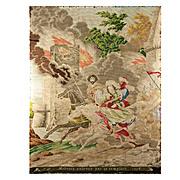 SALE Antique Early 1800s Needlepoint Tapestry, Petitpoint, Templars & Rebecca, Petitpoint Samp