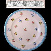 """SALE 6 Piece Antique Minton/Caldwell 8"""" Cabinet Plate Set, Floral Enamel"""