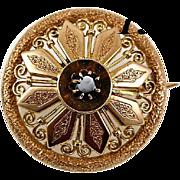 SALE Beauty! Antique Victorian 14K - 15K Gold & Garnet Brooch