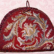 SOLD RARE & Superb Antique Victorian Beadwork Needlepoint Tea Cosy