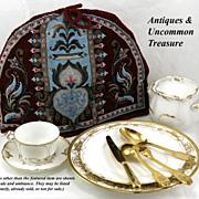 SALE Superb Antique Victorian Beadwork Needlepoint Tea Cosy #6
