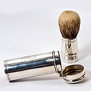 SOLD Antique English Sterling Silver & Boar Bristle Shaving Brush, c.1901 (Alfred Clark, Silve