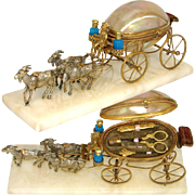 """SOLD Antique French Palais Royal 11"""" Long Mother of Pearl Carriage Sewing Etui, Perfume O"""