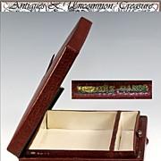 SALE Vintage HERMES Vanity Case, Insert from Trousse de Voyage, Valise - Rouge leather, ...