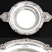 """SALE Large Antique French Sterling Silver 14.5"""" 'Ecuelle', Handled Serving Dish or Legumi"""