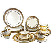 SALE Tiffany & Co Set 34pc Minton Luncheon, Dessert and Tea, Cream Soup or Boullion Set ...